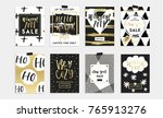 holidays cards and posters... | Shutterstock .eps vector #765913276