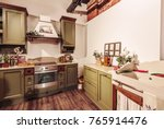 old style kitchen interior | Shutterstock . vector #765914476