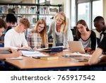 female teacher working with... | Shutterstock . vector #765917542
