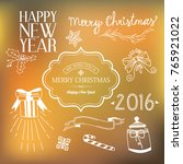 new year festive template with... | Shutterstock .eps vector #765921022