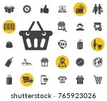 shopping basket icon on white...