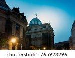 antique building view in... | Shutterstock . vector #765923296