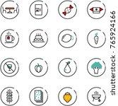 line vector icon set   cafe... | Shutterstock .eps vector #765924166