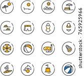 line vector icon set   beach... | Shutterstock .eps vector #765925966