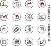 line vector icon set  ... | Shutterstock .eps vector #765925996