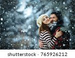 new year christmas snow concept ... | Shutterstock . vector #765926212