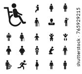 disabled icon. people vector... | Shutterstock .eps vector #765929215