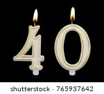 burning birthday candle... | Shutterstock . vector #765937642