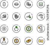 line vector icon set   bitcoin... | Shutterstock .eps vector #765939196