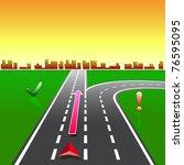 map navigator city streets gps... | Shutterstock .eps vector #76595095