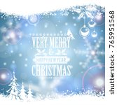 christmas frame with retro... | Shutterstock . vector #765951568