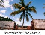 Cargo Container Against The...