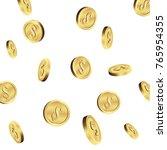 falling coins  flying gold... | Shutterstock .eps vector #765954355