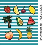 patch fruit collection | Shutterstock .eps vector #765962236