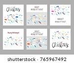 merry christmas unusual trendy...   Shutterstock .eps vector #765967492