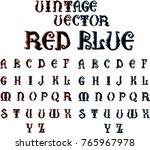 decorative shadow font in... | Shutterstock .eps vector #765967978