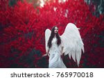 art photo of a angelic... | Shutterstock . vector #765970018