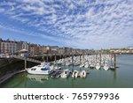 marina of dieppe  normandy ... | Shutterstock . vector #765979936