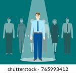 searching talented employees.... | Shutterstock .eps vector #765993412