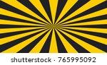 stripe rays safety warning... | Shutterstock .eps vector #765995092