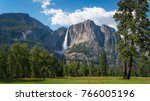upper falls in yosemite... | Shutterstock . vector #766005196