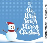 we wish you a merry christmas... | Shutterstock .eps vector #766006378