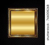 vector square frame. shining... | Shutterstock .eps vector #766008268