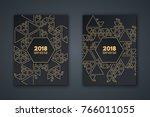 elegant invitation card for the ... | Shutterstock .eps vector #766011055