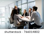 team of architects working... | Shutterstock . vector #766014802