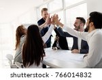 team of architects working... | Shutterstock . vector #766014832
