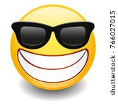 sunglasses laughing expression... | Shutterstock .eps vector #766027015