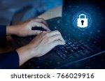 press enter button on the... | Shutterstock . vector #766029916