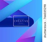 abstract 3d liquid fluid color... | Shutterstock .eps vector #766035298