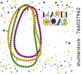 mardi gras colorful background... | Shutterstock .eps vector #766037962