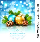 vector illustration for merry... | Shutterstock .eps vector #766046248