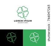 Clover Leaf Four Logo Vector...