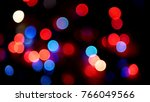 out of focus multicolored... | Shutterstock . vector #766049566