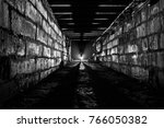 abandoned bombshelter in russia | Shutterstock . vector #766050382