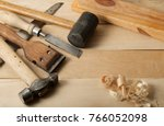 Construction Tools On Wooden...