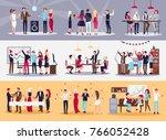 corporate parties ... | Shutterstock . vector #766052428