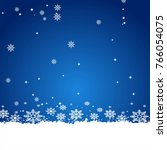 frist snow  snowy rain | Shutterstock .eps vector #766054075