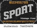 vintage font alphabet... | Shutterstock .eps vector #766054696