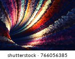 colorful abstract digital... | Shutterstock . vector #766056385
