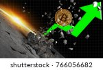 bitcoin price boosts crypto... | Shutterstock . vector #766056682