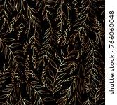 vector floral pattern in doodle ... | Shutterstock .eps vector #766060048