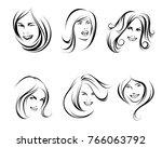 vector illustration of six... | Shutterstock .eps vector #766063792