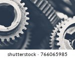 close up view of stack of gears | Shutterstock . vector #766065985