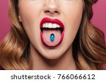 cropped image of displeased... | Shutterstock . vector #766066612