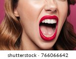 cropped photo of angry woman... | Shutterstock . vector #766066642