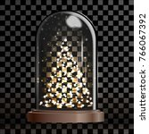 illuminated christmas tree...   Shutterstock .eps vector #766067392